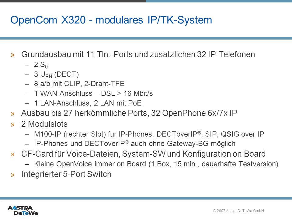 OpenCom X320 - modulares IP/TK-System