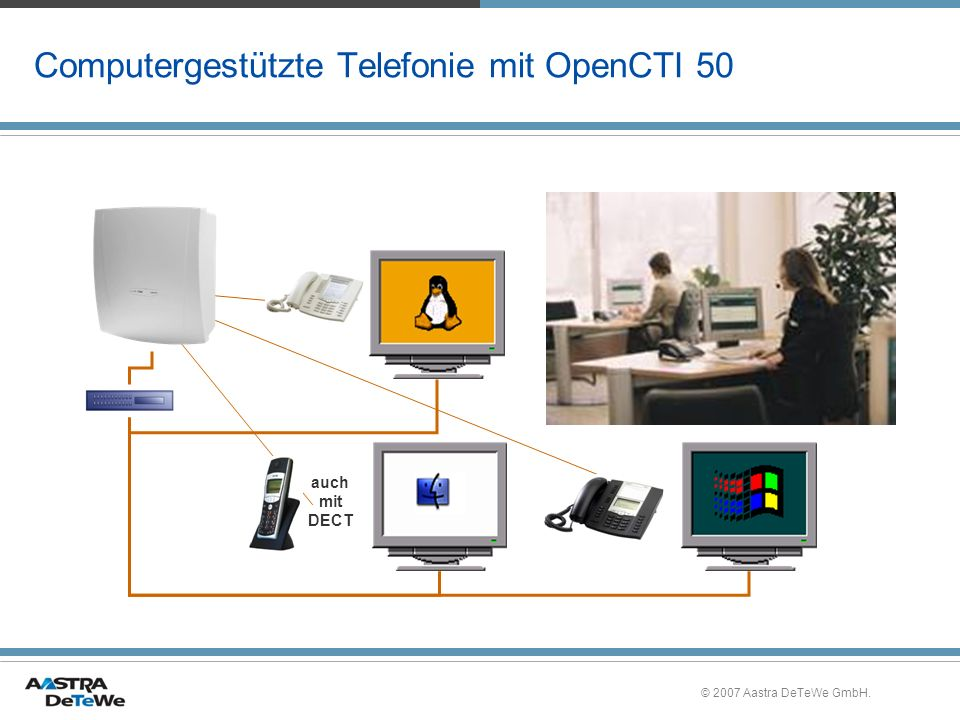 Computergestützte Telefonie mit OpenCTI 50
