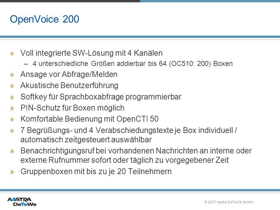 OpenVoice 200 Voll integrierte SW-Lösung mit 4 Kanälen