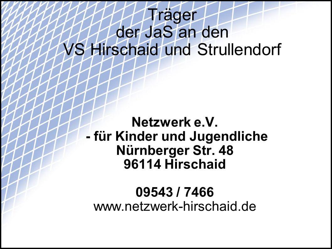 Träger der JaS an den VS Hirschaid und Strullendorf