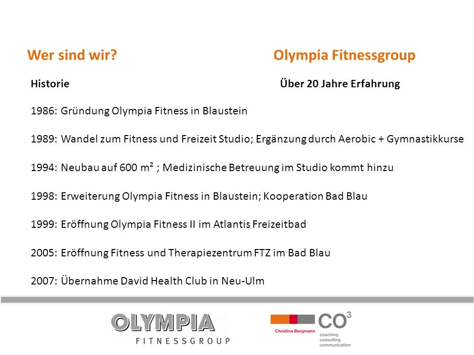 Wer sind wir Olympia Fitnessgroup