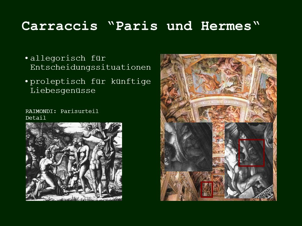 Carraccis Paris und Hermes
