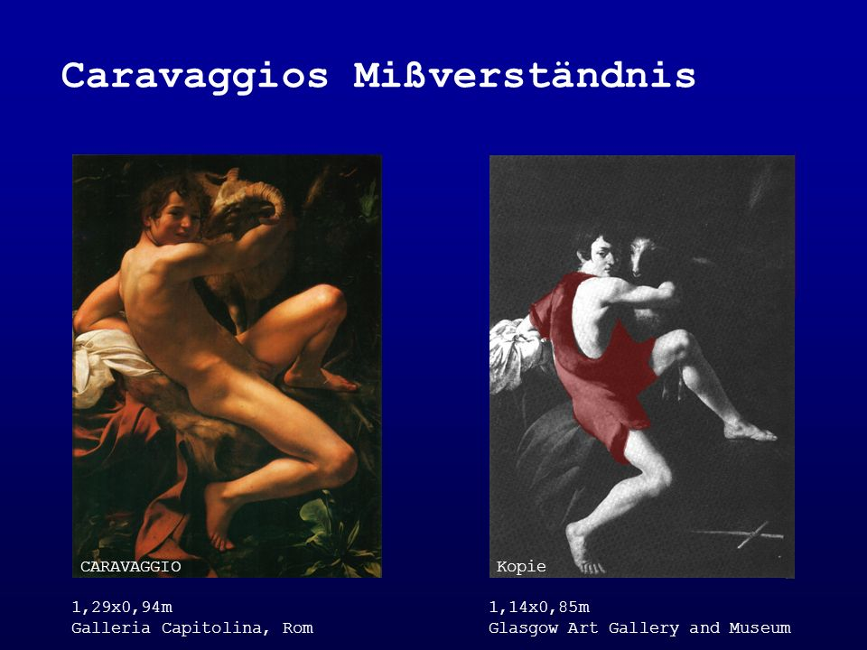 Caravaggios Mißverständnis