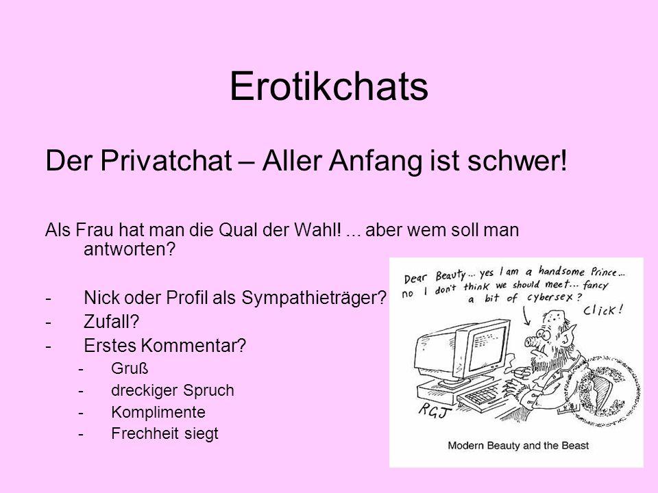 Erotikchats Der Privatchat – Aller Anfang ist schwer!