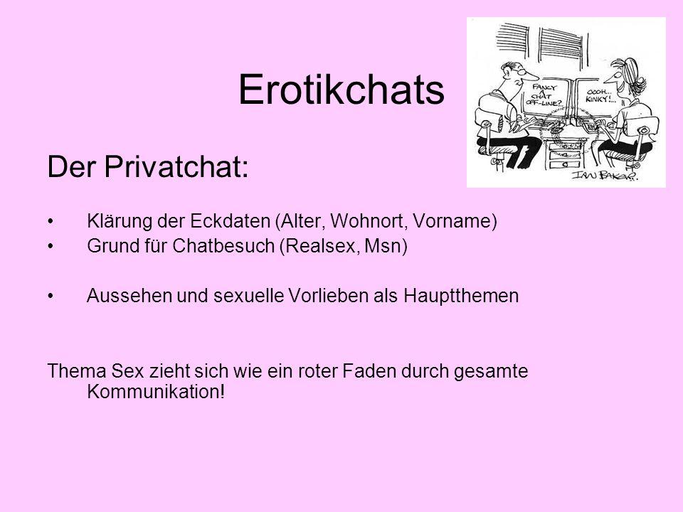 Erotikchats Der Privatchat:
