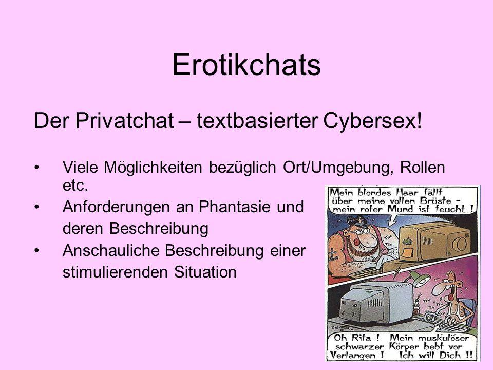 Erotikchats Der Privatchat – textbasierter Cybersex!