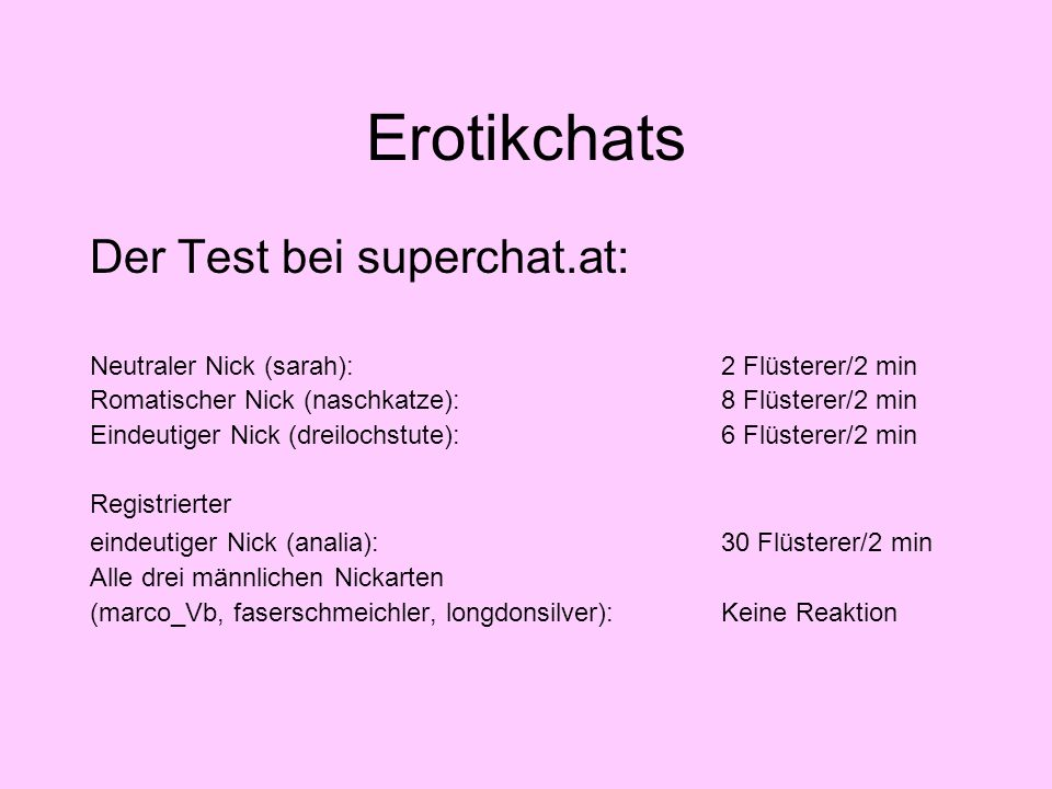 Erotikchats Der Test bei superchat.at: