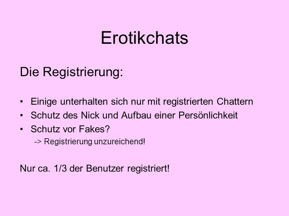 Erotikchats Die Registrierung: