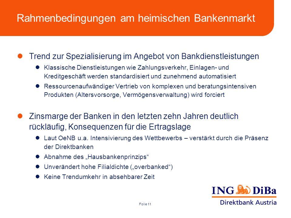 Rahmenbedingungen am heimischen Bankenmarkt