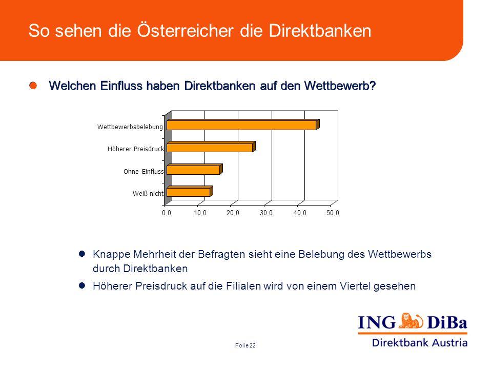 So sehen die Österreicher die Direktbanken