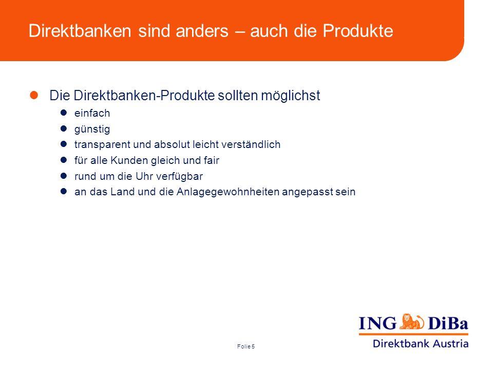 Direktbanken sind anders – auch die Produkte