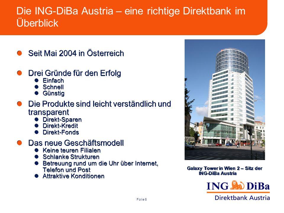 Die ING-DiBa Austria – eine richtige Direktbank im Überblick