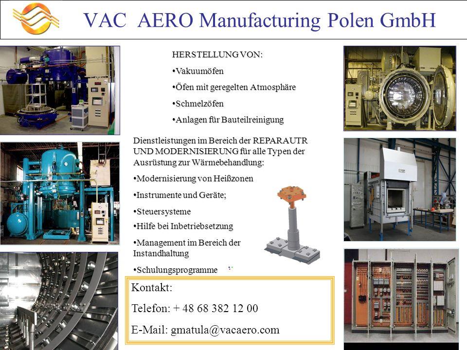 VAC AERO Manufacturing Polen GmbH