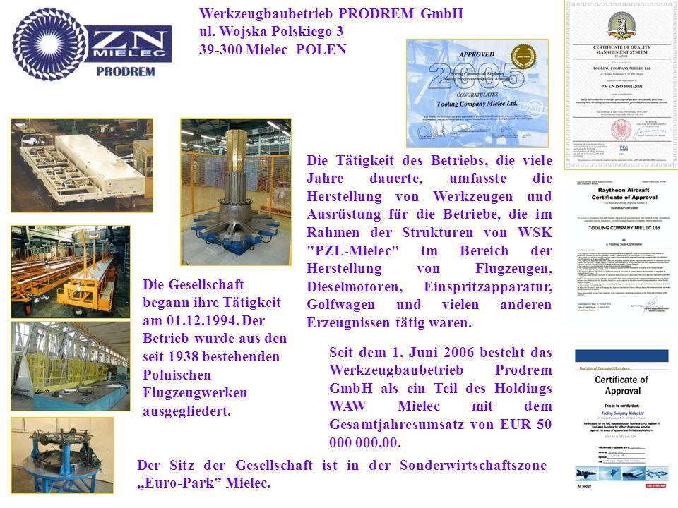 Werkzeugbaubetrieb PRODREM GmbH ul