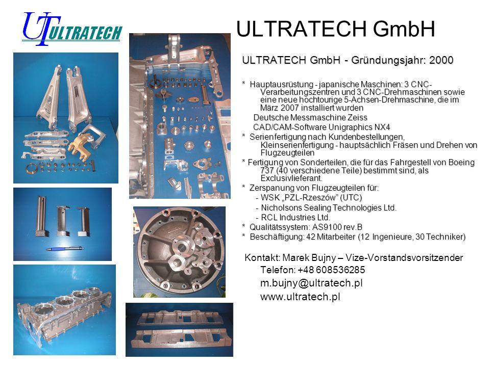 ULTRATECH GmbH ULTRATECH GmbH - Gründungsjahr: 2000