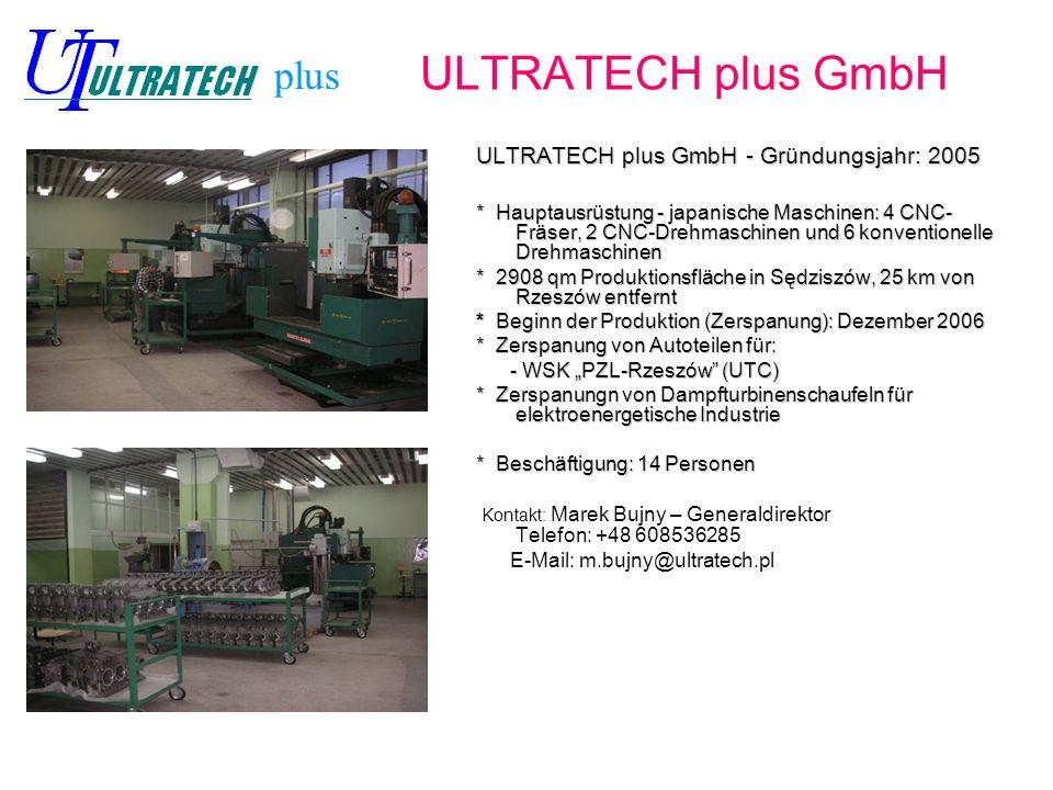 ULTRATECH plus GmbH plus ULTRATECH plus GmbH - Gründungsjahr: 2005