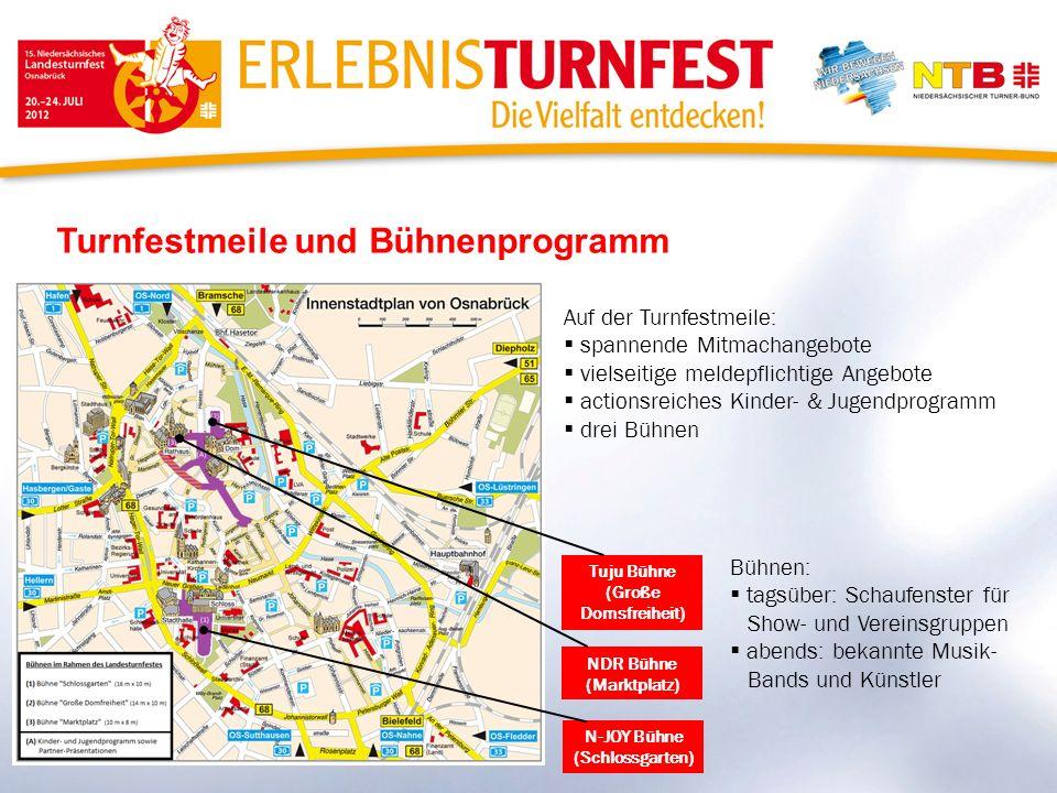 Turnfestmeile und Bühnenprogramm