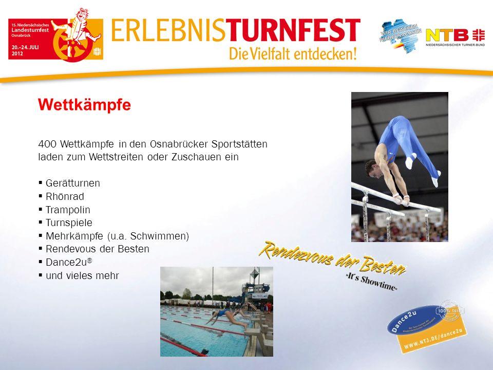 Wettkämpfe 400 Wettkämpfe in den Osnabrücker Sportstätten laden zum Wettstreiten oder Zuschauen ein.