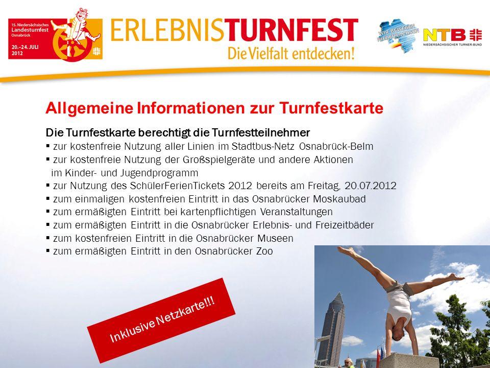 Allgemeine Informationen zur Turnfestkarte