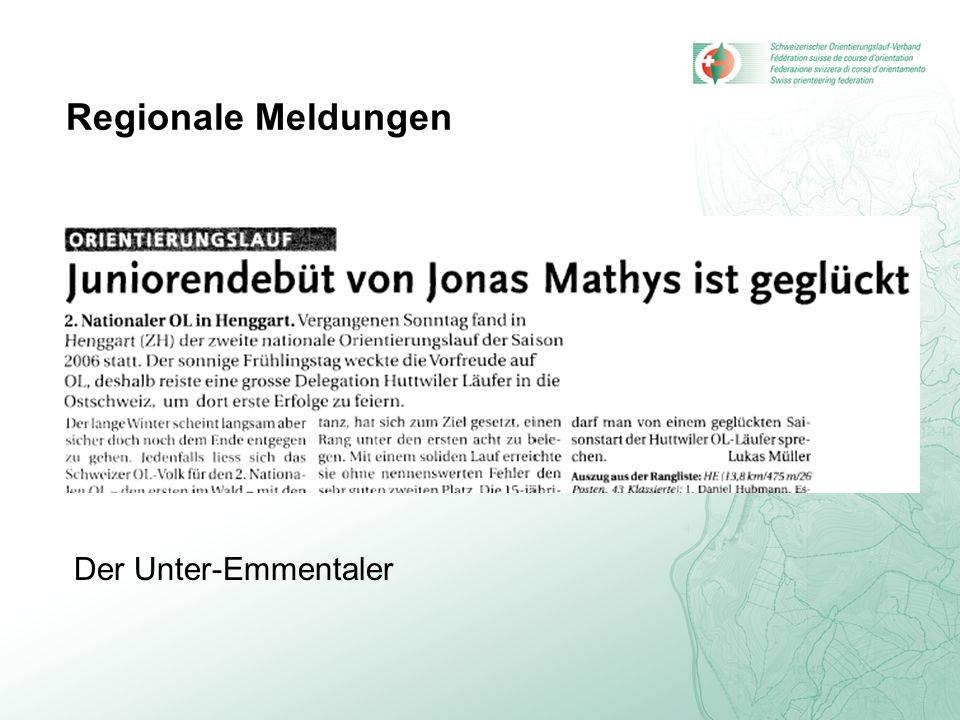 Regionale Meldungen Der Unter-Emmentaler