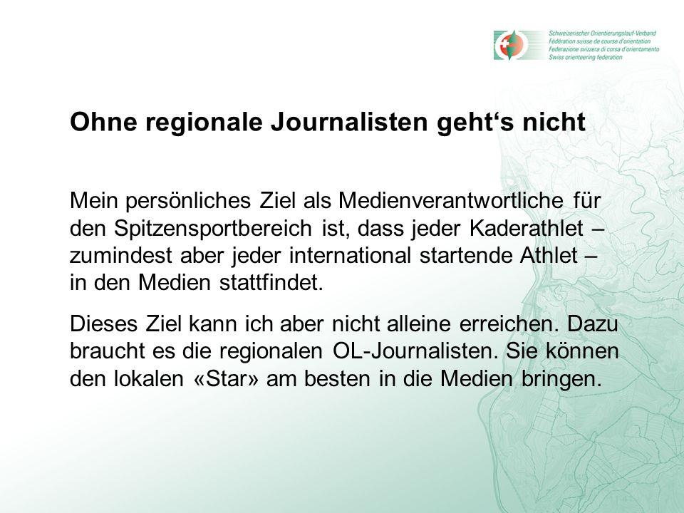 Ohne regionale Journalisten geht's nicht