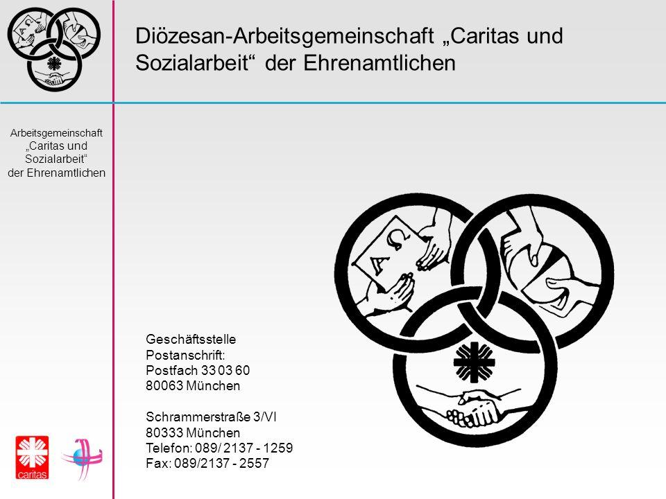"""Diözesan-Arbeitsgemeinschaft """"Caritas und Sozialarbeit der Ehrenamtlichen"""