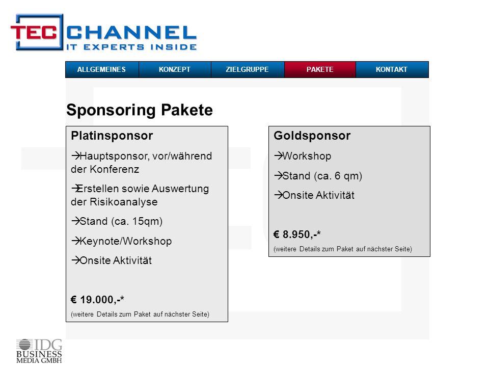 Sponsoring Pakete Platinsponsor Goldsponsor