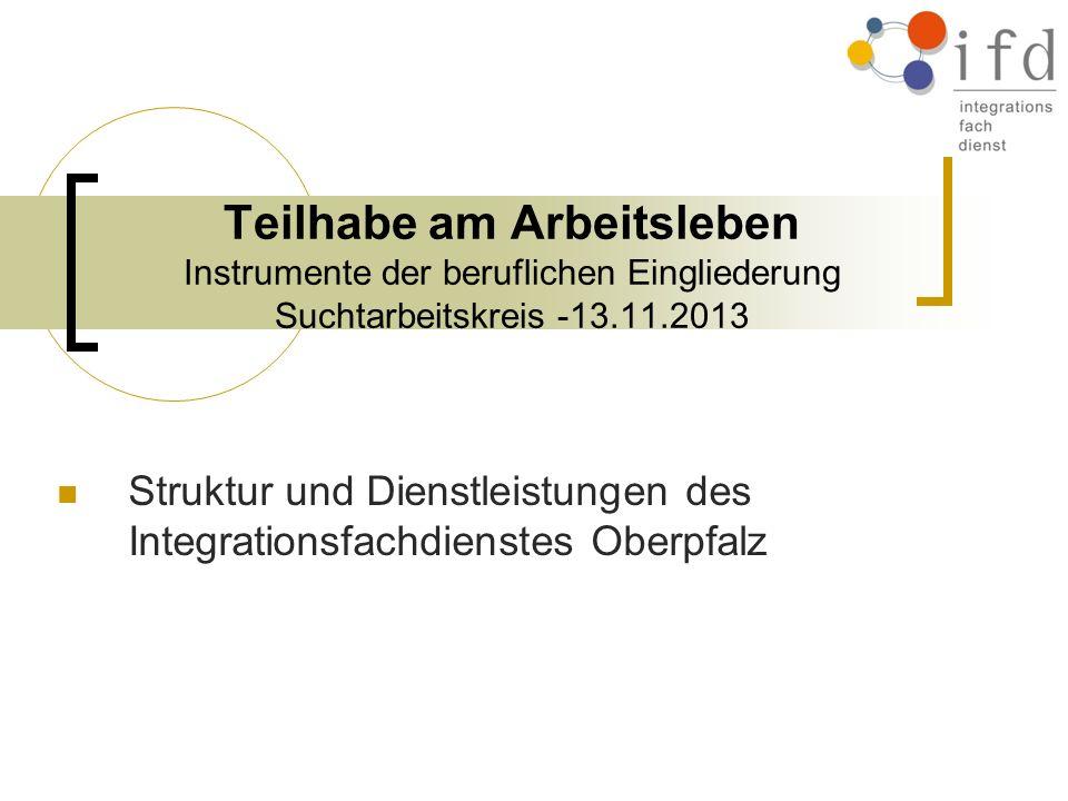 Struktur und Dienstleistungen des Integrationsfachdienstes Oberpfalz