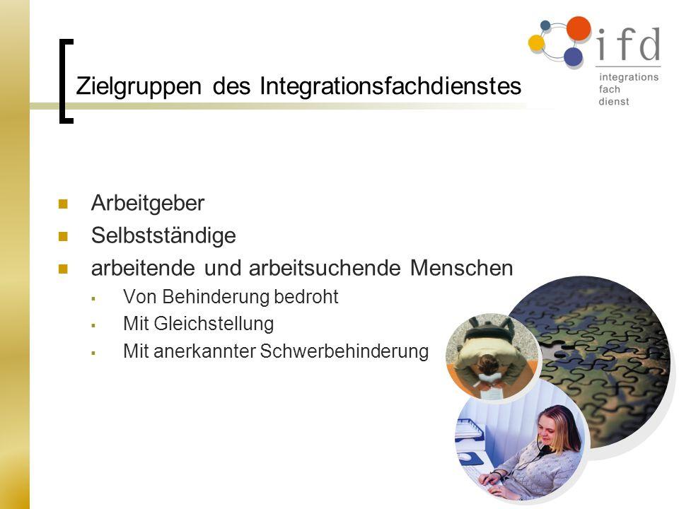 Zielgruppen des Integrationsfachdienstes
