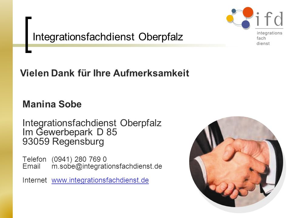 Integrationsfachdienst Oberpfalz