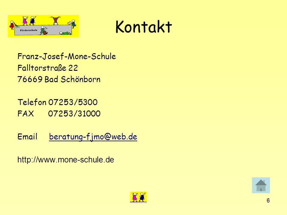Kontakt Franz-Josef-Mone-Schule Falltorstraße 22 76669 Bad Schönborn