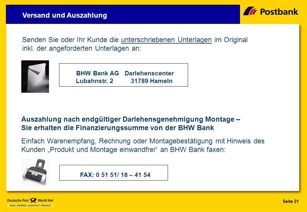 BHW Bank AG Darlehenscenter