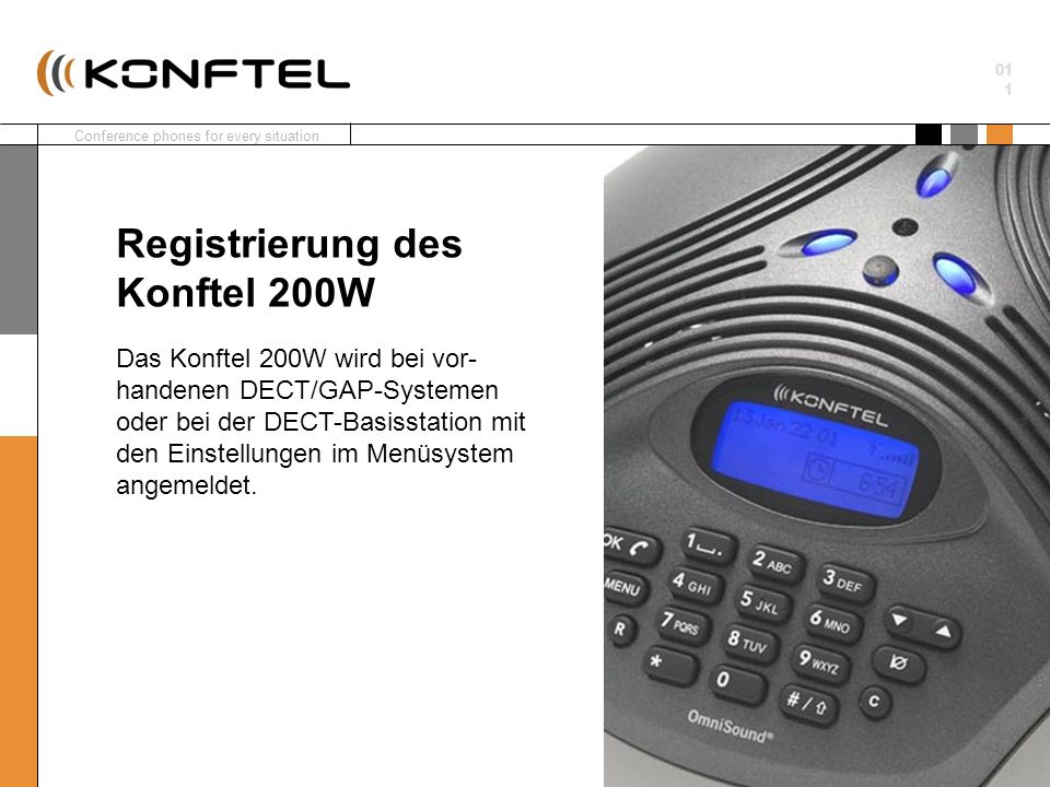 Registrierung des Konftel 200W