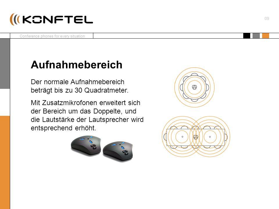 AufnahmebereichDer normale Aufnahmebereich beträgt bis zu 30 Quadratmeter.