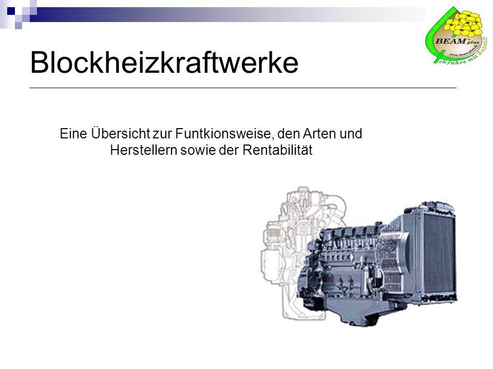 Blockheizkraftwerke Eine Übersicht zur Funtkionsweise, den Arten und Herstellern sowie der Rentabilität.