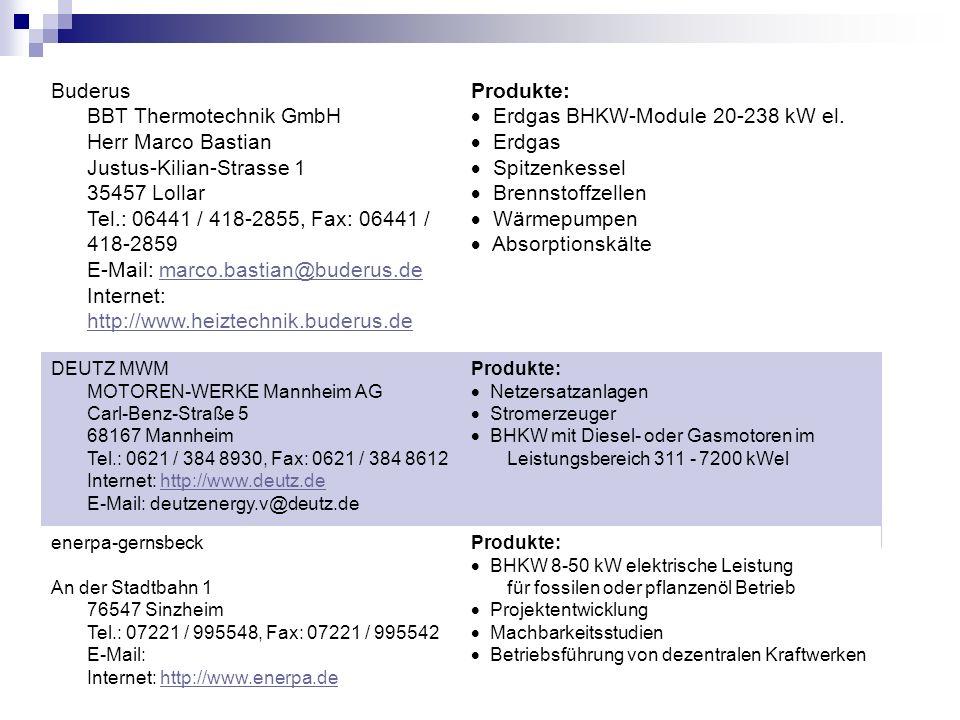 · Erdgas BHKW-Module 20-238 kW el. · Erdgas · Spitzenkessel
