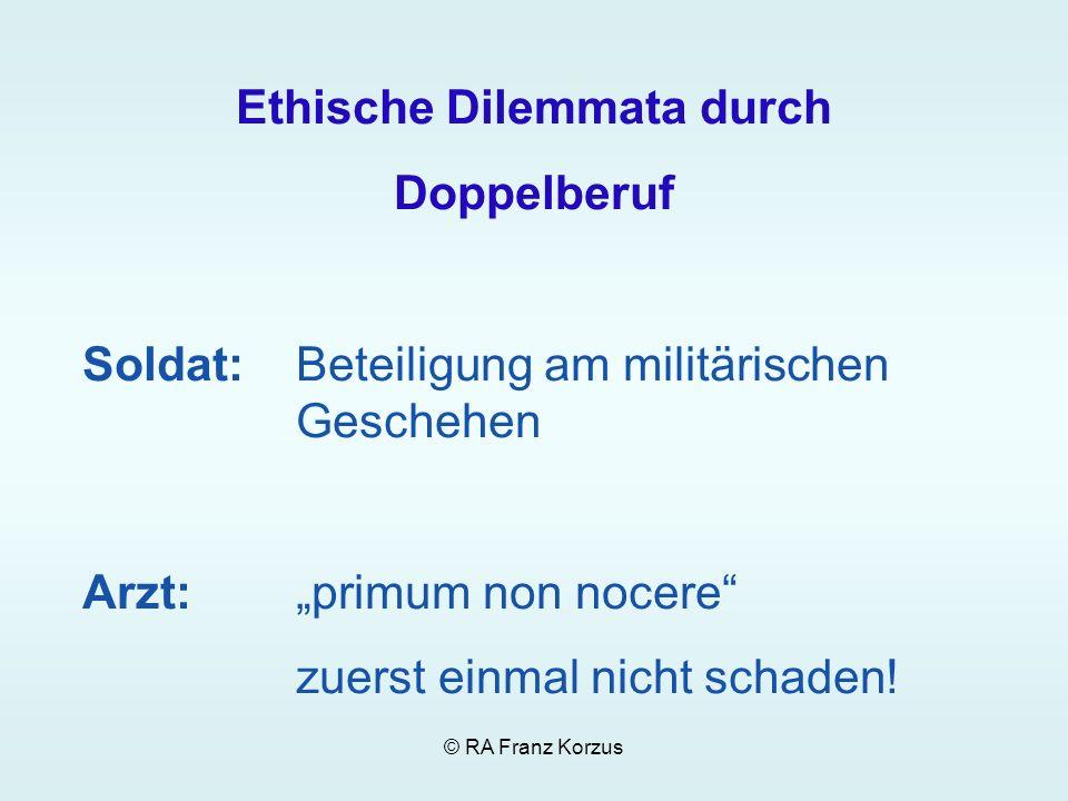 Ethische Dilemmata durch