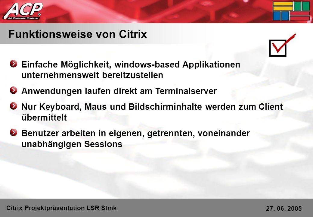 Funktionsweise von Citrix