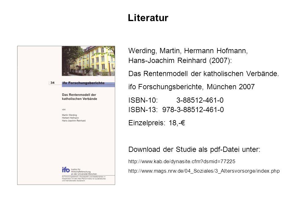 Literatur Werding, Martin, Hermann Hofmann,
