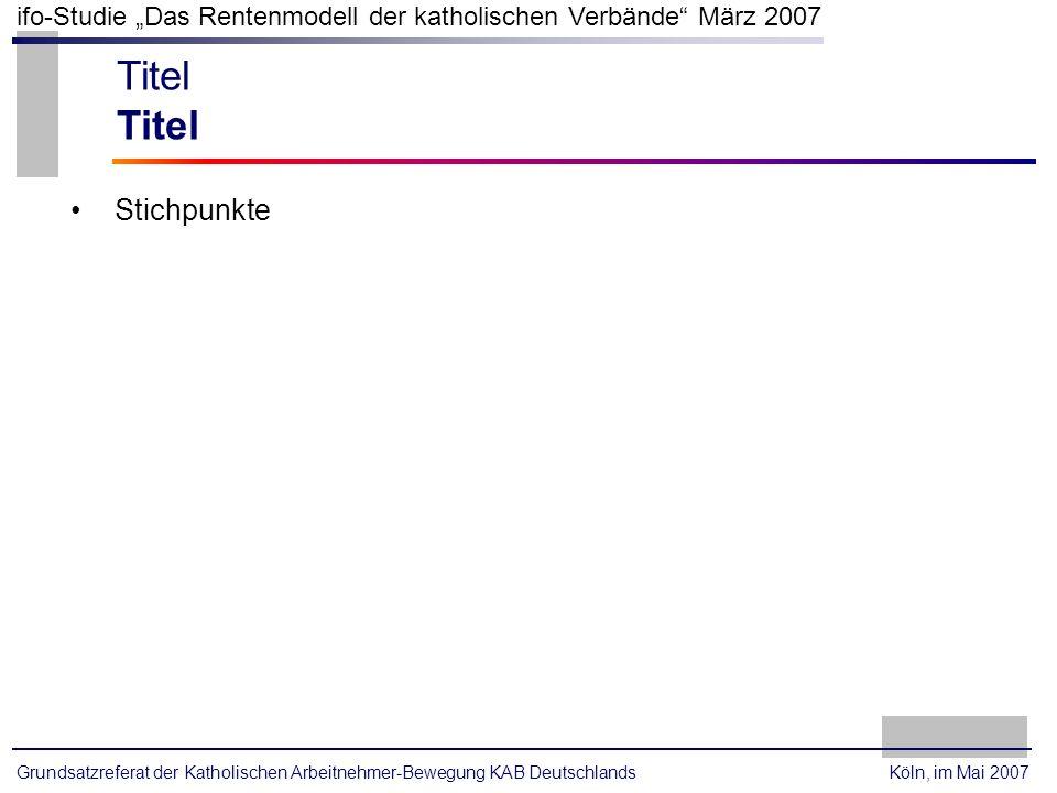 Titel Stichpunkte Köln, im Mai 2007