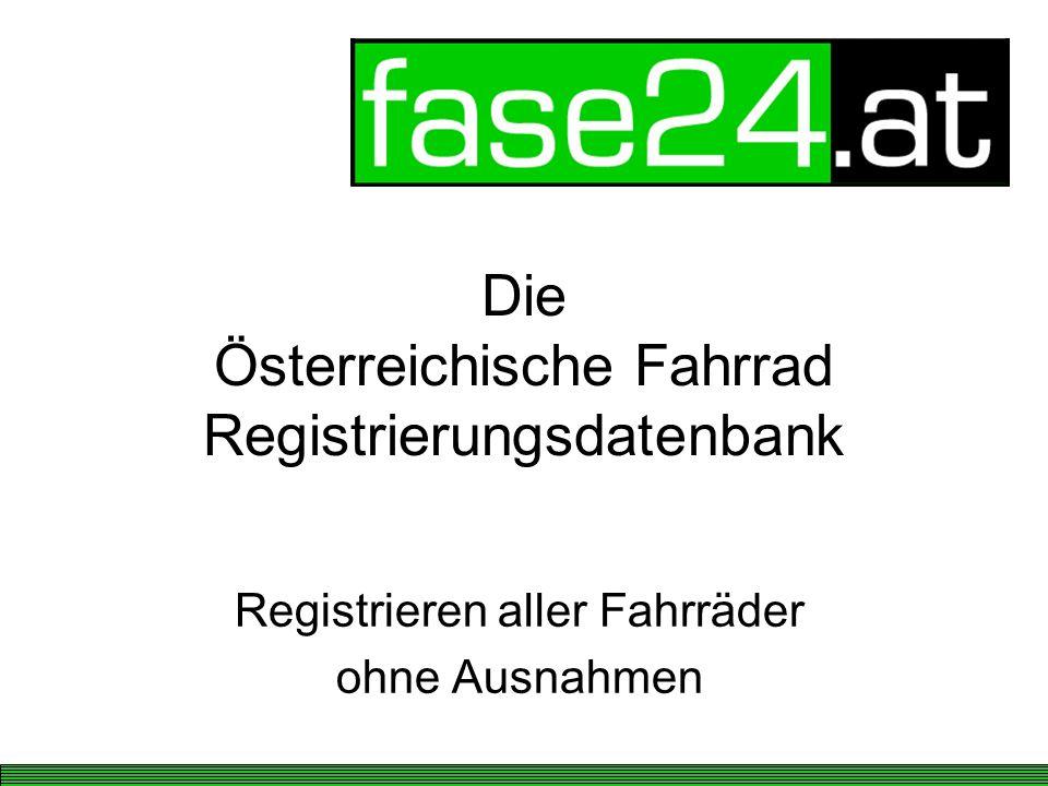 Die Österreichische Fahrrad Registrierungsdatenbank