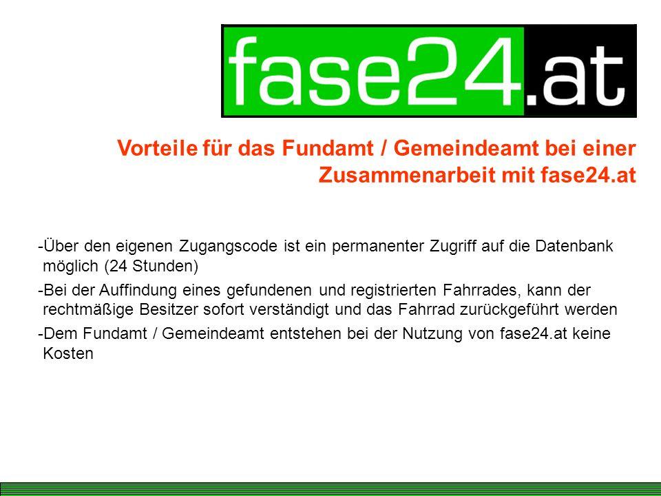 Vorteile für das Fundamt / Gemeindeamt bei einer Zusammenarbeit mit fase24.at