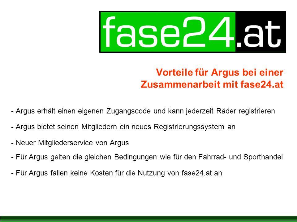 Vorteile für Argus bei einer Zusammenarbeit mit fase24.at