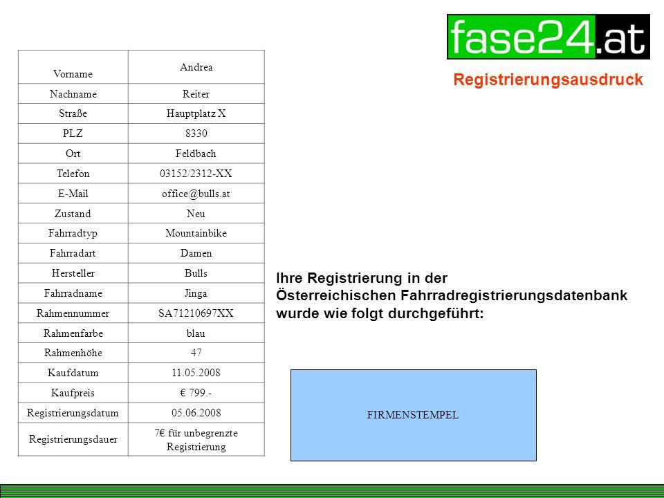 7€ für unbegrenzte Registrierung