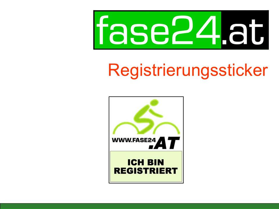 Registrierungssticker