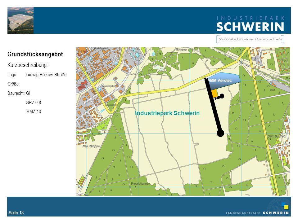 Grundstücksangebot Kurzbeschreibung: Industriepark Schwerin