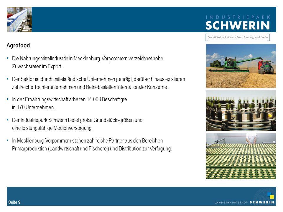 Agrofood Die Nahrungsmittelindustrie in Mecklenburg-Vorpommern verzeichnet hohe Zuwachsraten im Export.