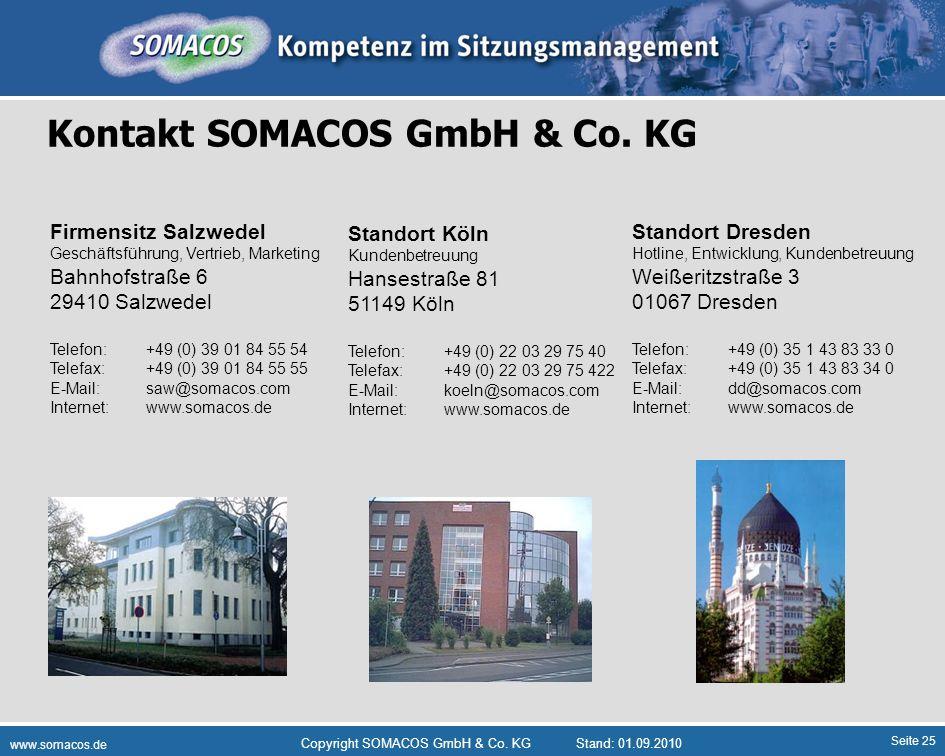 Kontakt SOMACOS GmbH & Co. KG