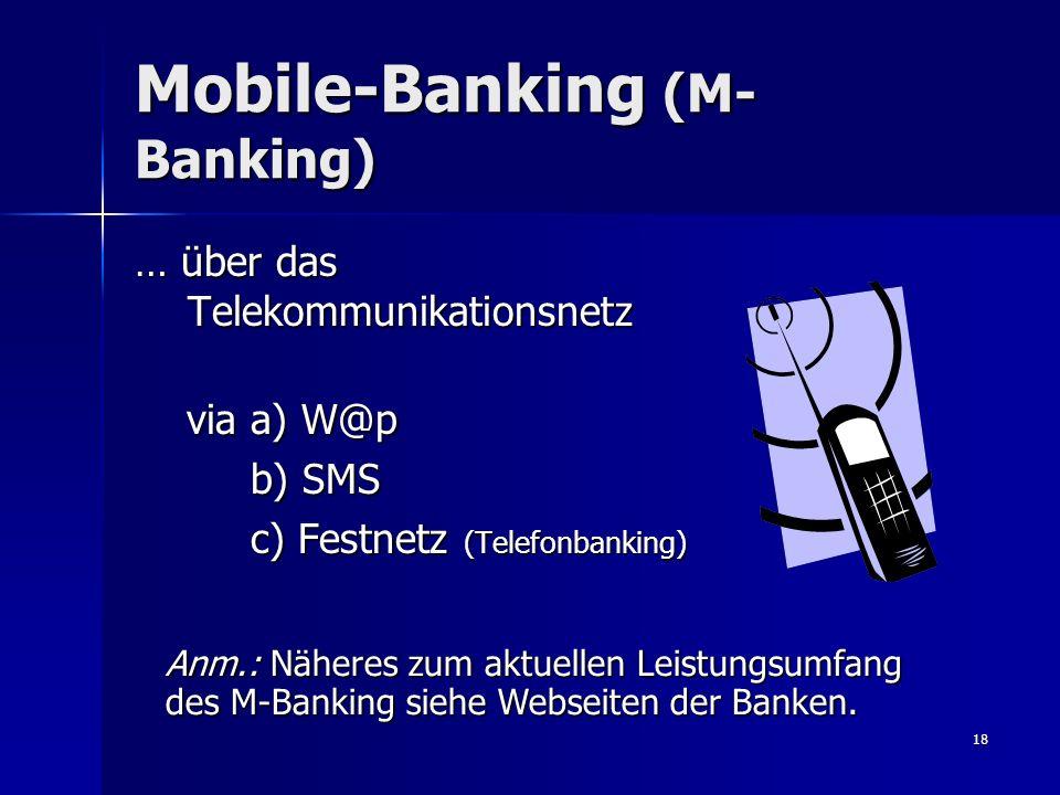 Mobile-Banking (M-Banking)