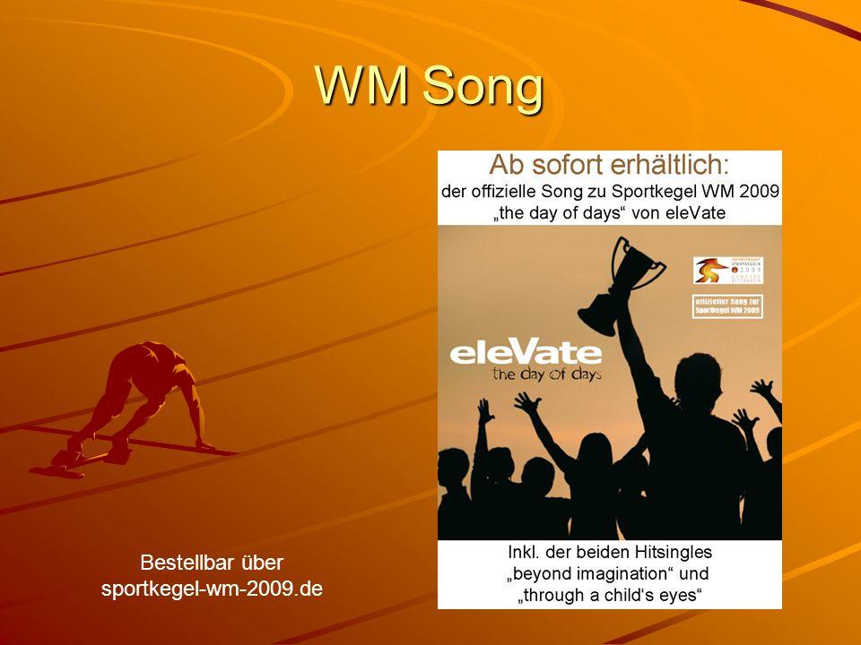 WM Song Bestellbar über sportkegel-wm-2009.de